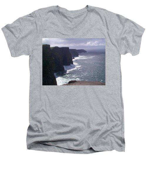 Cliffs Of Moher Men's V-Neck T-Shirt by Charles Kraus