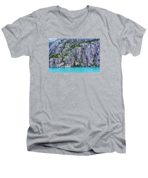 Men's V-Neck T-Shirt featuring the photograph Cliffs Of The Inside Passage by Lewis Mann