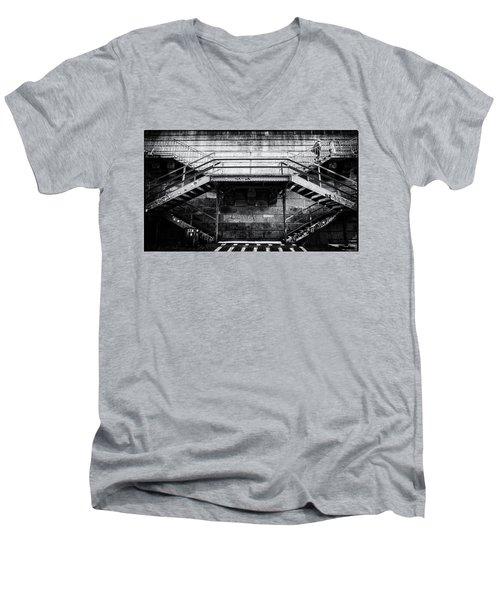 Climb The Stairs Men's V-Neck T-Shirt