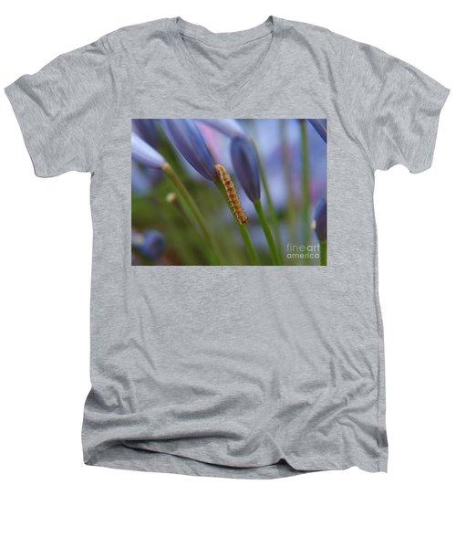 Climbing Caterpillar Men's V-Neck T-Shirt