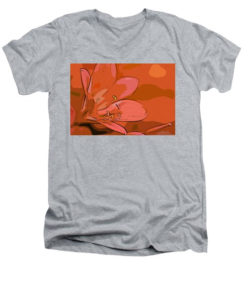 Clivia Miniata Men's V-Neck T-Shirt