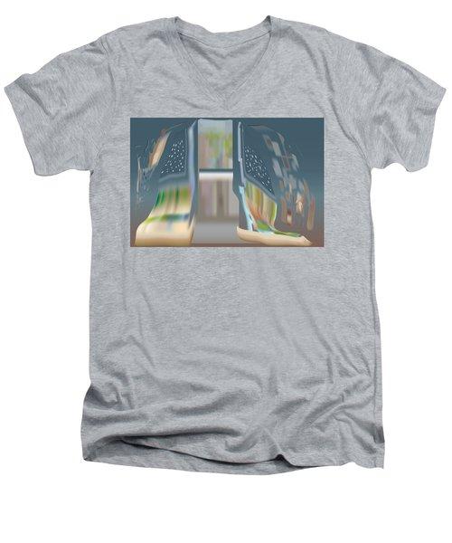 Cloak City Men's V-Neck T-Shirt