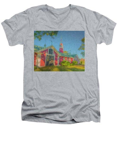 David Ames Clock Farm Men's V-Neck T-Shirt