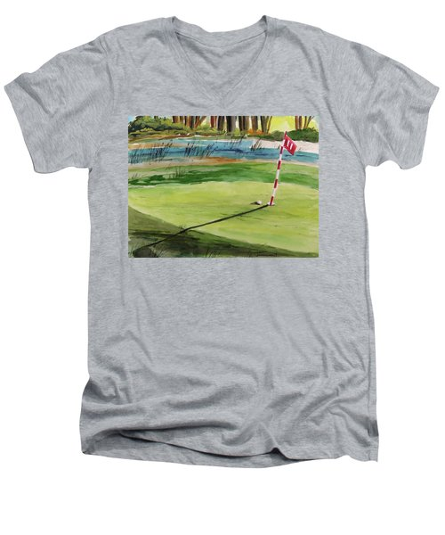 Close At The Eleventh Hole Men's V-Neck T-Shirt