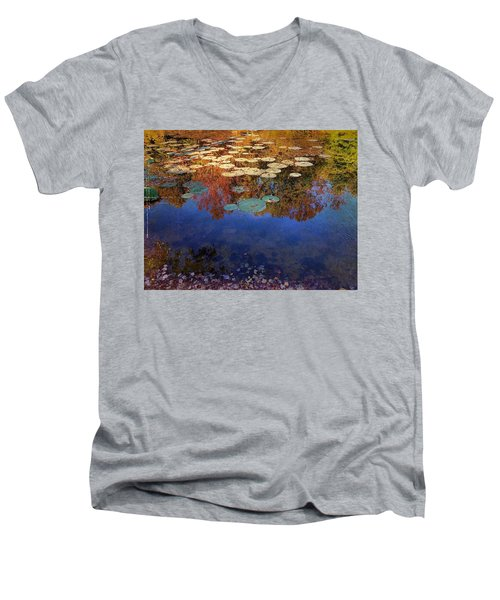 Close By The Lily Pond  Men's V-Neck T-Shirt
