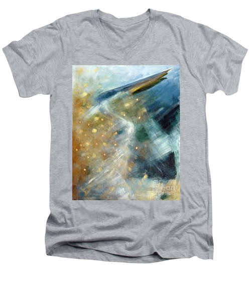 Close Encounter With A Great Blue Men's V-Neck T-Shirt