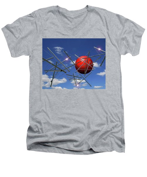 Men's V-Neck T-Shirt featuring the photograph Close Encounters by Christopher McKenzie