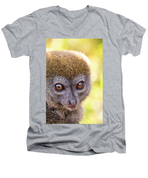 Men's V-Neck T-Shirt featuring the photograph Close Quarters by Alex Lapidus