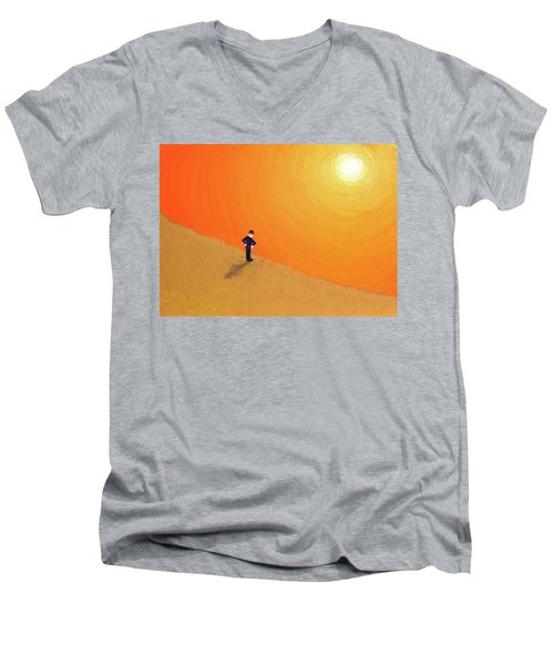 Close To The Edge Men's V-Neck T-Shirt