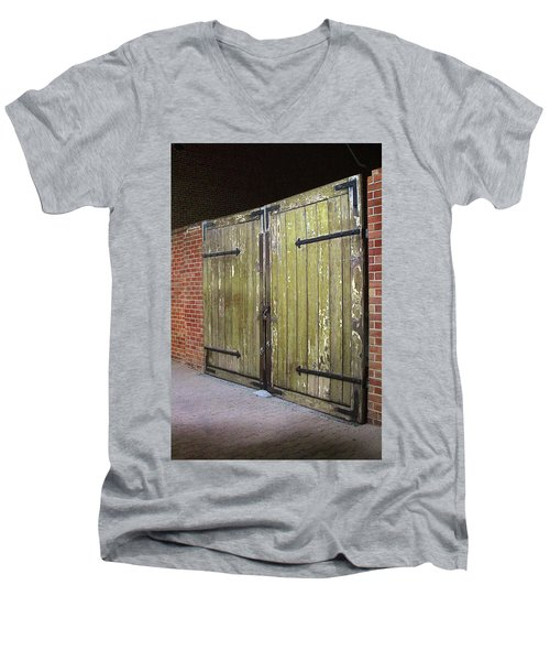 Men's V-Neck T-Shirt featuring the photograph Closed Until Tomorrow by Viktor Savchenko