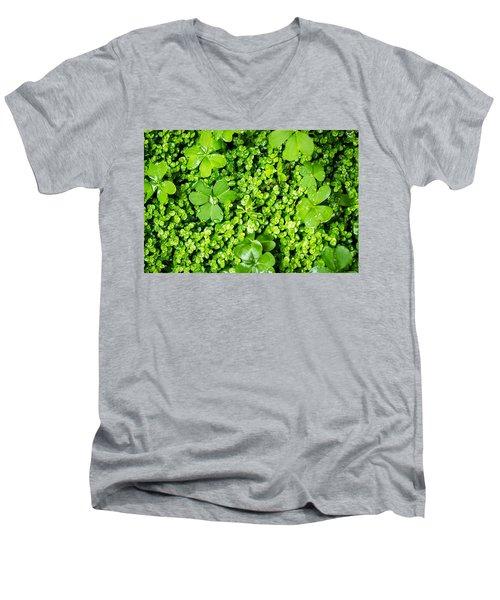 Lush Green Soothing Organic Sense Men's V-Neck T-Shirt