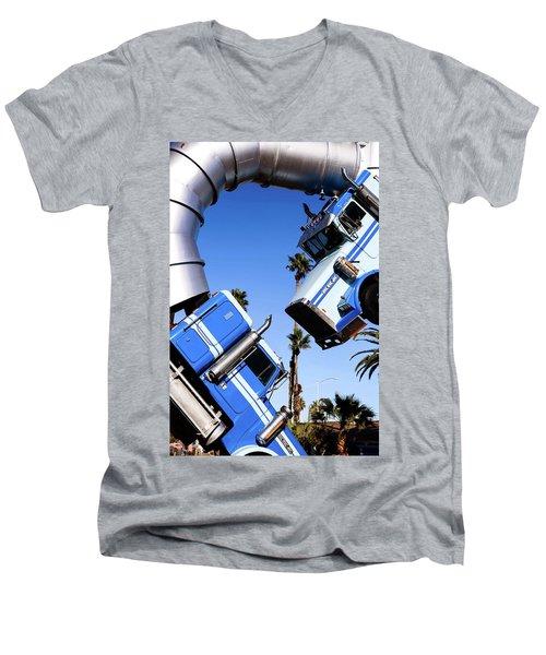 Closeup On Big Rig Jig Men's V-Neck T-Shirt