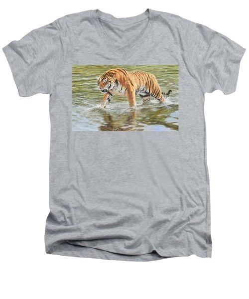 Closing In Men's V-Neck T-Shirt
