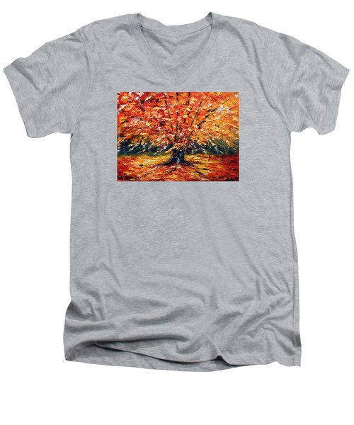 Clothed With Splendor Men's V-Neck T-Shirt by Meaghan Troup
