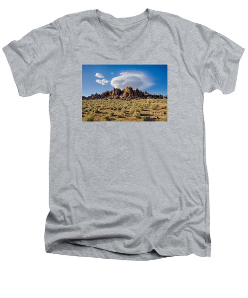 Cloud And Rocks Men's V-Neck T-Shirt