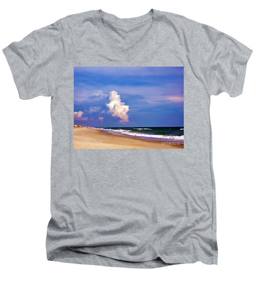 Men's V-Neck T-Shirt featuring the photograph Cloud Approaching by Roberta Byram