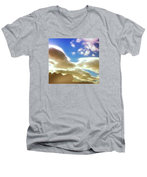 Cloud Drama Over Sangre De Cristos Men's V-Neck T-Shirt by Anastasia Savage Ealy
