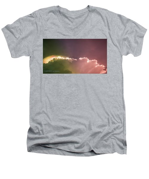 Cloud Eruption Men's V-Neck T-Shirt by Stefanie Silva