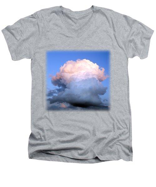 Cloud Explosion T-shirt Men's V-Neck T-Shirt