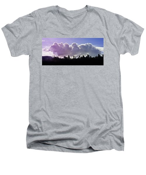 Cloud Express Men's V-Neck T-Shirt by Adria Trail