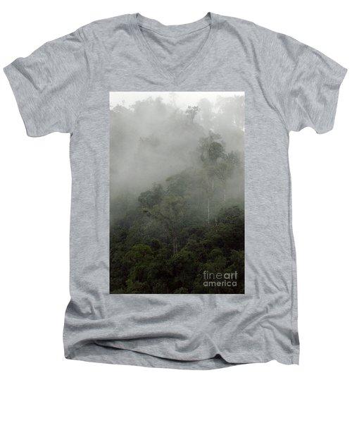 Cloud Forest Men's V-Neck T-Shirt by Kathy McClure