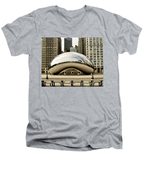Cloud Gate - 3 Men's V-Neck T-Shirt