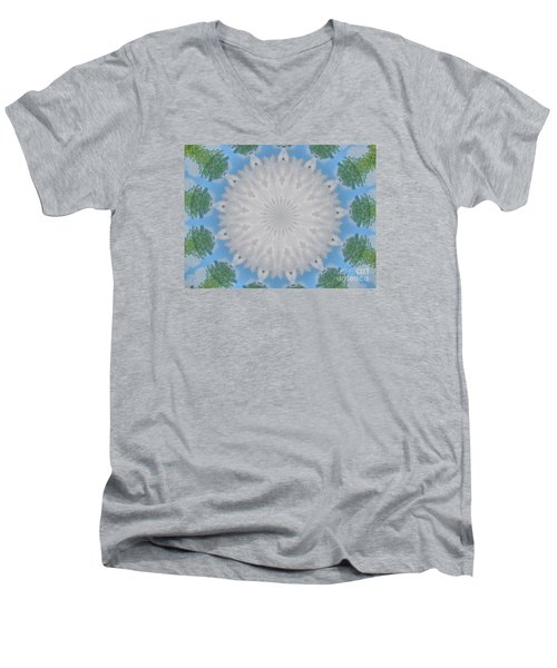 Cloud Medallion Men's V-Neck T-Shirt
