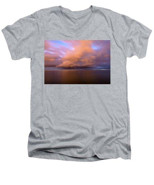Cloud Motion At Dawn  Men's V-Neck T-Shirt