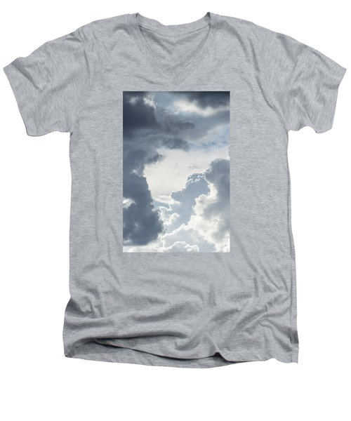 Men's V-Neck T-Shirt featuring the photograph Cloud Painting by Laura Pratt