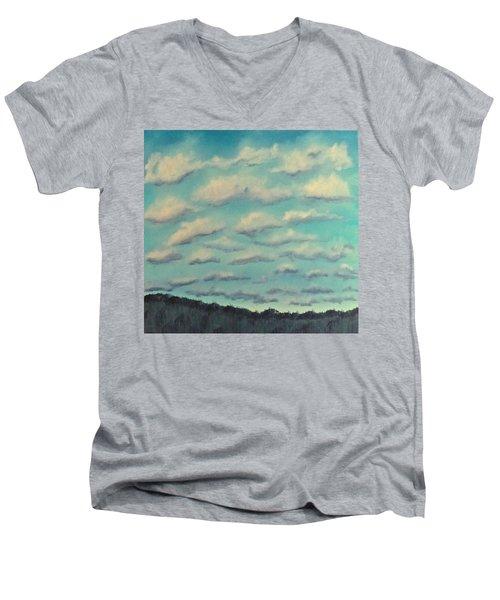 Cloud Study Cropped Image Men's V-Neck T-Shirt