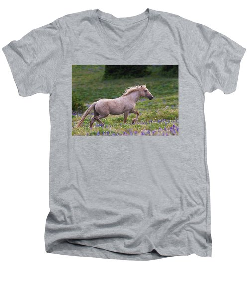 Cloud- Wild Stallion Of The West Men's V-Neck T-Shirt