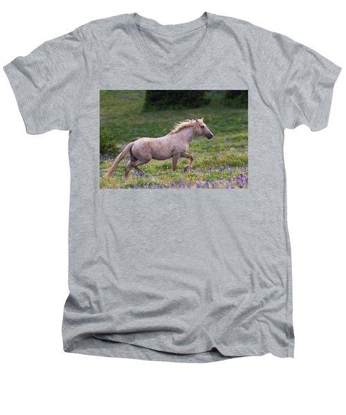 Cloud- Wild Stallion Of The West Men's V-Neck T-Shirt