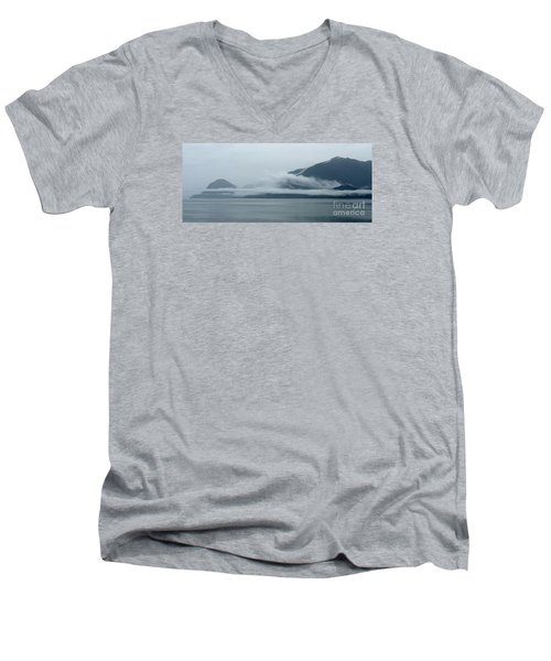 Cloud-wreathed Coastline Inside Passage Alaska Men's V-Neck T-Shirt