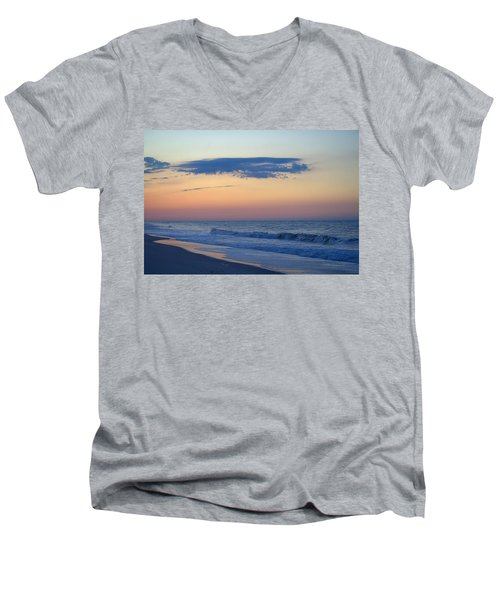 Men's V-Neck T-Shirt featuring the photograph Clouded Pre Sunrise by  Newwwman