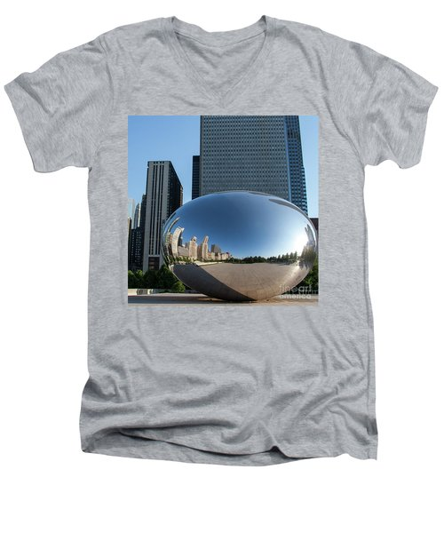 Cloudgate Reflects Men's V-Neck T-Shirt