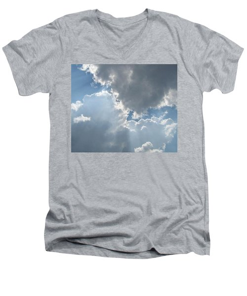 Clouds 1 Men's V-Neck T-Shirt by Barbara Yearty