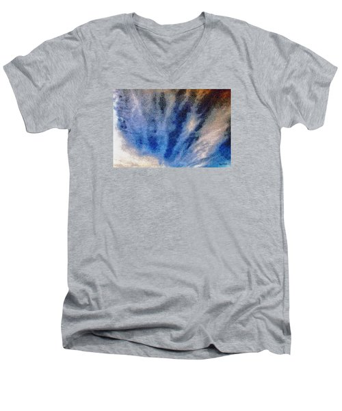 Men's V-Neck T-Shirt featuring the photograph Clouds 12 by Spyder Webb