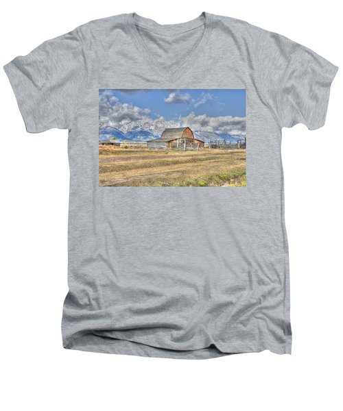 Clouds And Barn Men's V-Neck T-Shirt