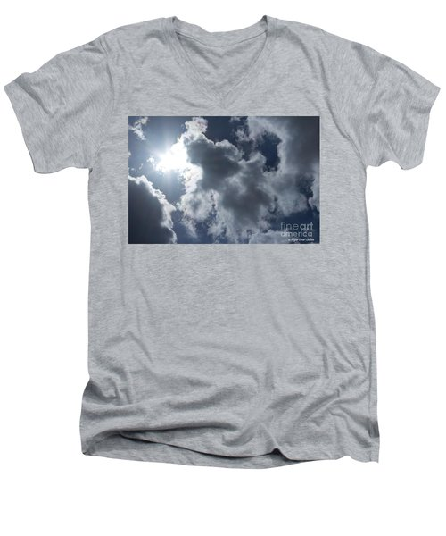 Men's V-Neck T-Shirt featuring the photograph Clouds And Sunlight by Megan Dirsa-DuBois