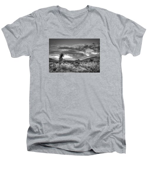Clouds And Yucca Men's V-Neck T-Shirt
