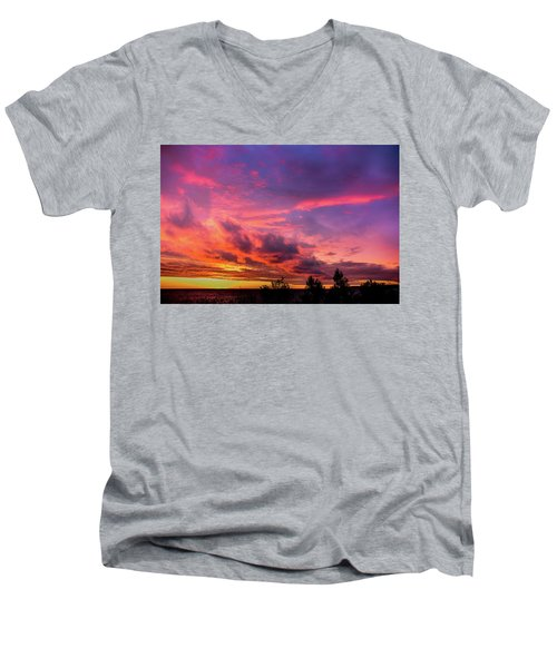 Clouds At Sunset Men's V-Neck T-Shirt