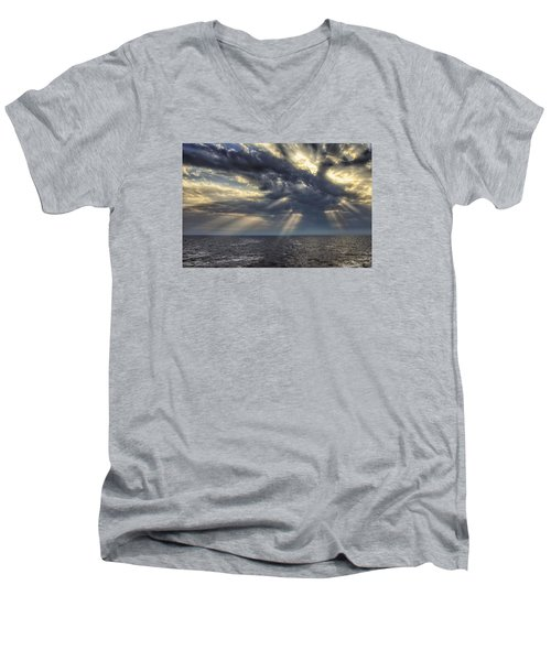 Clouds Men's V-Neck T-Shirt by John Swartz