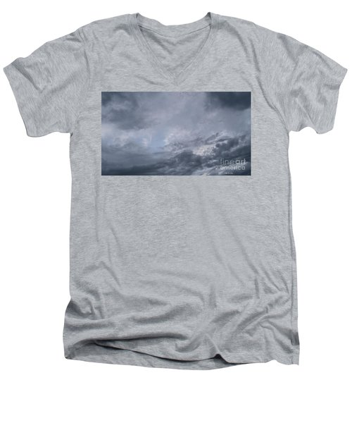 Men's V-Neck T-Shirt featuring the photograph Clouds by Megan Dirsa-DuBois