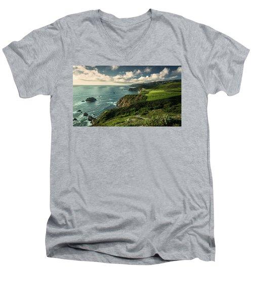 Clouds Over Bixby Bridge Men's V-Neck T-Shirt
