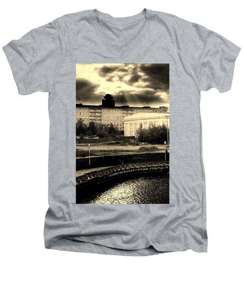 Clouds Over Minsk Men's V-Neck T-Shirt by Vadim Levin