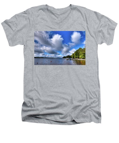 Men's V-Neck T-Shirt featuring the photograph Clouds Over Palmer Point by David Patterson