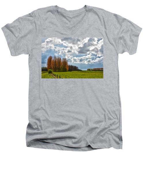 Clouds Over Voorne Men's V-Neck T-Shirt