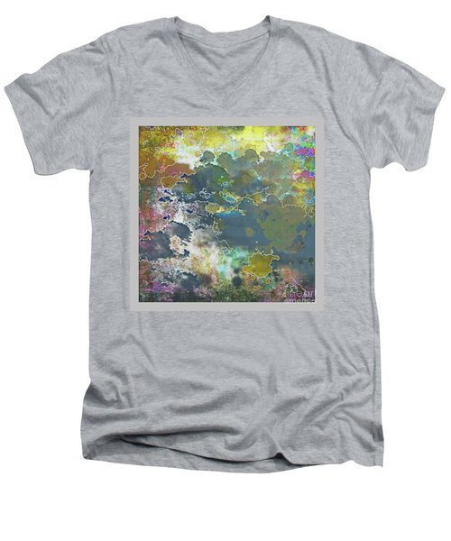 Clouds Over Water Men's V-Neck T-Shirt by Deborah Nakano
