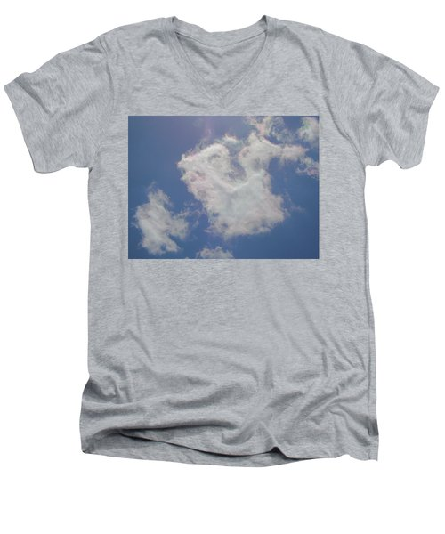 Clouds Rainbow Reflections Men's V-Neck T-Shirt by Cindy Croal