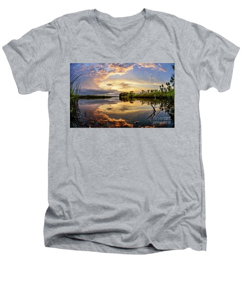 Clouds Reflections Men's V-Neck T-Shirt